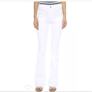 7 for all Mankind Braided High Waist Flare Jeans